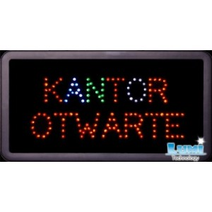 Tablica Kantor - Otwarte LED tablice