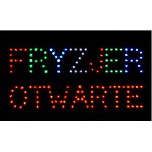 Tablica Fryzjer - Otwarte LED tablice